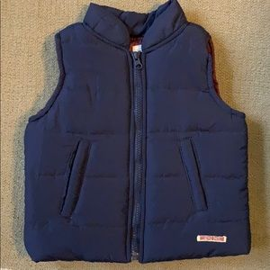 HUDSON | Navy Blue Zip Up Vest